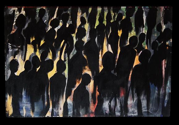 """""""Concert Crowd"""" Canvas (20 x 30)"""