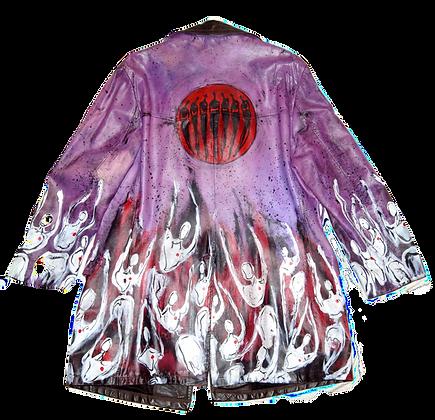 Purple People Eater Painted Vintage Leather Jacket