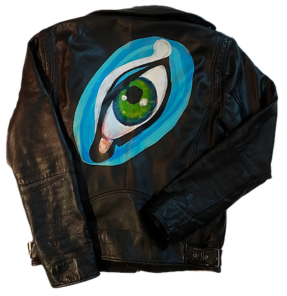 Eye Of The Beholder Painted Leather Jacket