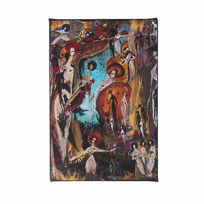 """""""Shadows of Self"""" - Acrylic on Canvas (4x6"""")"""