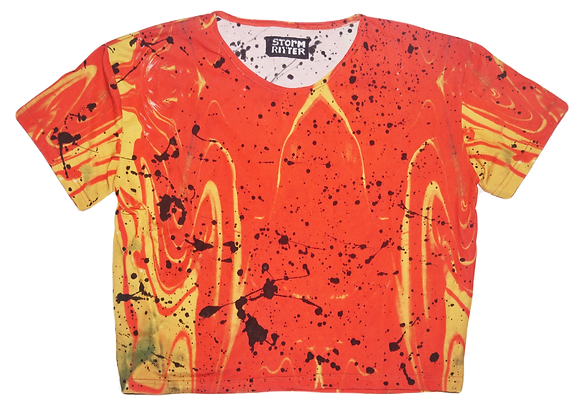 Splatter Painted Tequila Sunrise T-Shirt