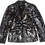 Thumbnail: Metallic Splatter x The Cool People Painted Vintage Leather Jacket