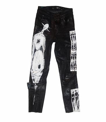 """The Cool People - Power Legs"" Painted Denim"