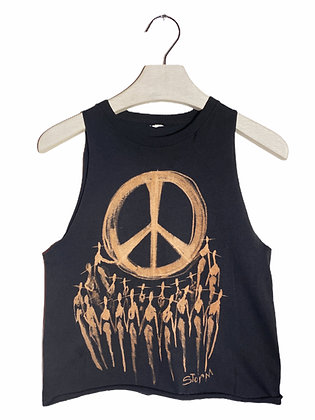 S - A Peace of Cool Bleached & Cut Tank