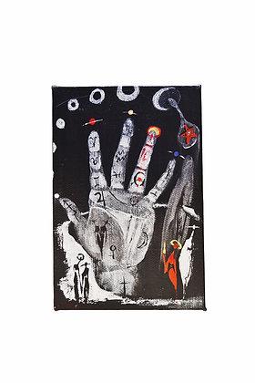 """Cool Chiromancy"" - Acrylic on Canvas (4x6"")"