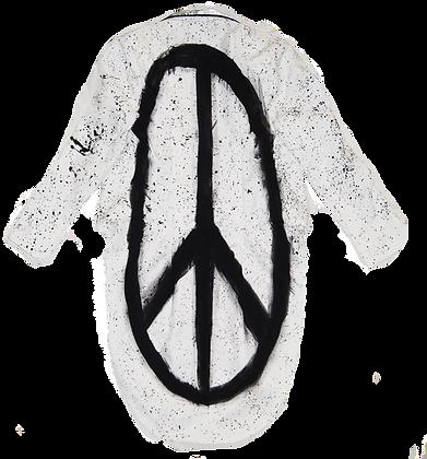 Peace Splatter Paint Penguin Jacket