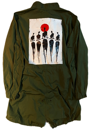 Cool People Card Painted Vintage US Army M51 Fishtail Parka