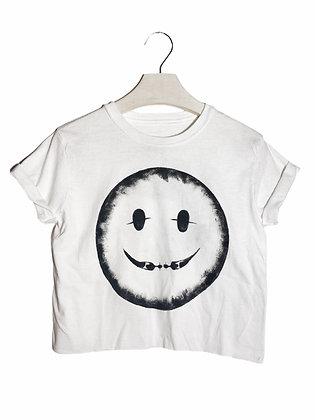 S - Cool People Smile Painted & Cut Tee