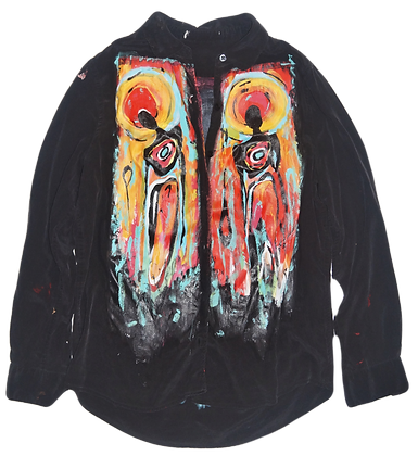 S - Painted Surrealist Cool People Blouse