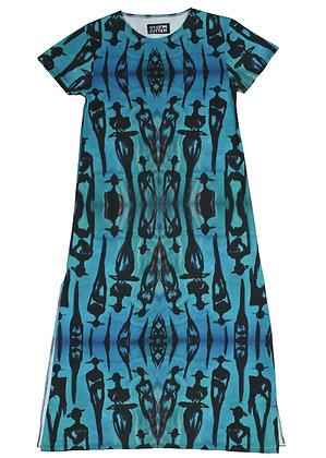 L - Electric Blue (The Cool People) Maxi T-Shirt Dress
