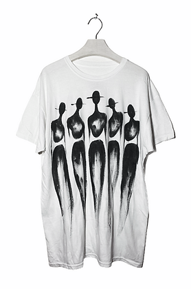 L - The Cool People Crisp White Painted T-Shirt