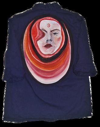 Lucy Priestess Painted Vintage Barn Jacket