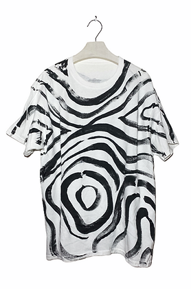 Zebra Swirl Painted T-Shirt