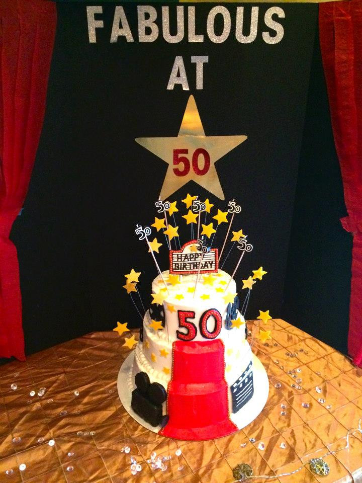 Hollywood themed cake for my mom's 50th birthday