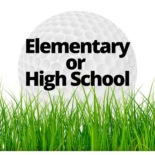 Elementary or High School