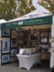 Look Leave a Trail Photography's Green & Tan Tent at local Greater Seattle Farmers Markets and Art Walks.