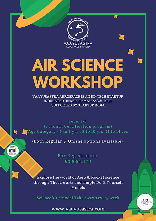 Blue and Green Space Science Fair Poster
