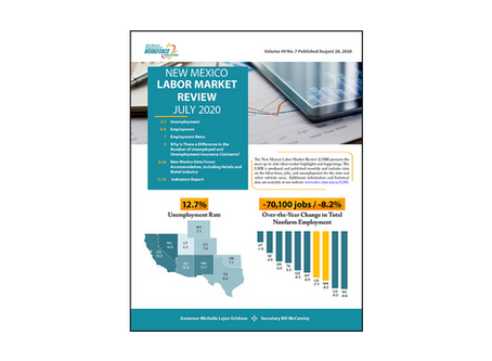 NMDWS Labor Market Information Publication Release for July, 2020