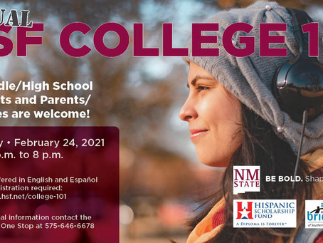 Webinar: Hispanic College Fund's College 101: February 24, 2021