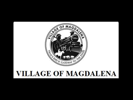 The Village of Magdalena is hiring for a Clerk/Treasurer