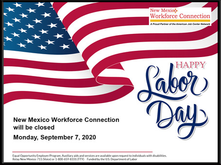 September 7, 2020 Holiday Closure