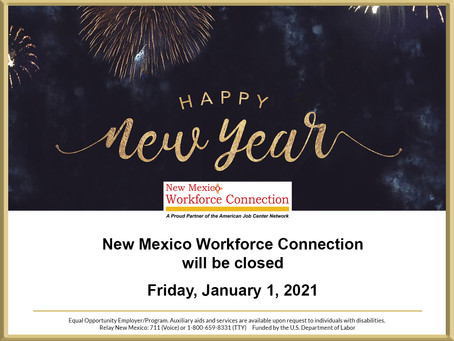 January 1, 2021 Holiday Closure