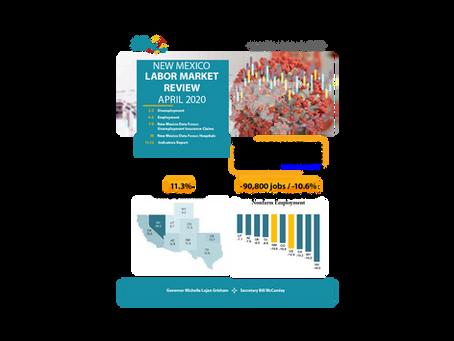 NMDWS Labor Market Information Publication Release for April, 2020