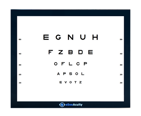 All-in-one eSee Digital Acuity Chart - Lite