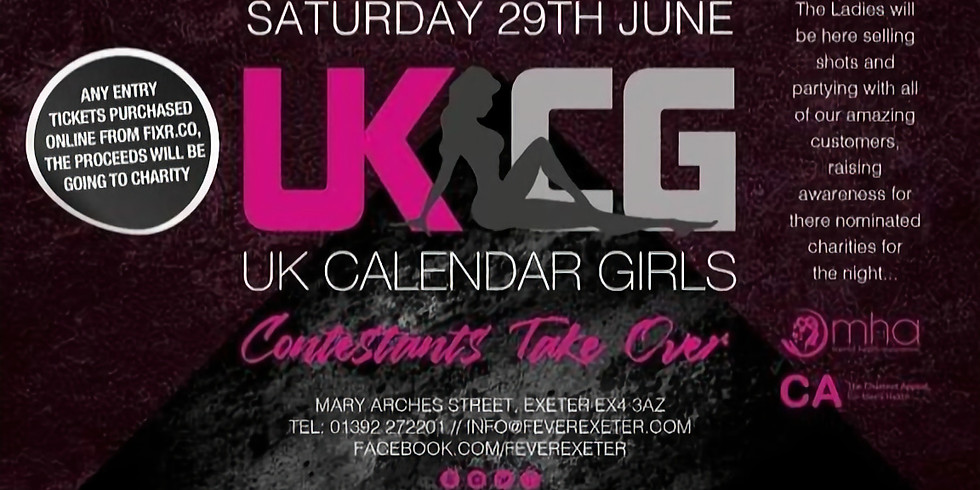 Fever & Boutique Exeter Calendar Girls Contestants Takeover