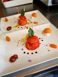 Tomates et mozzarella de Bufala