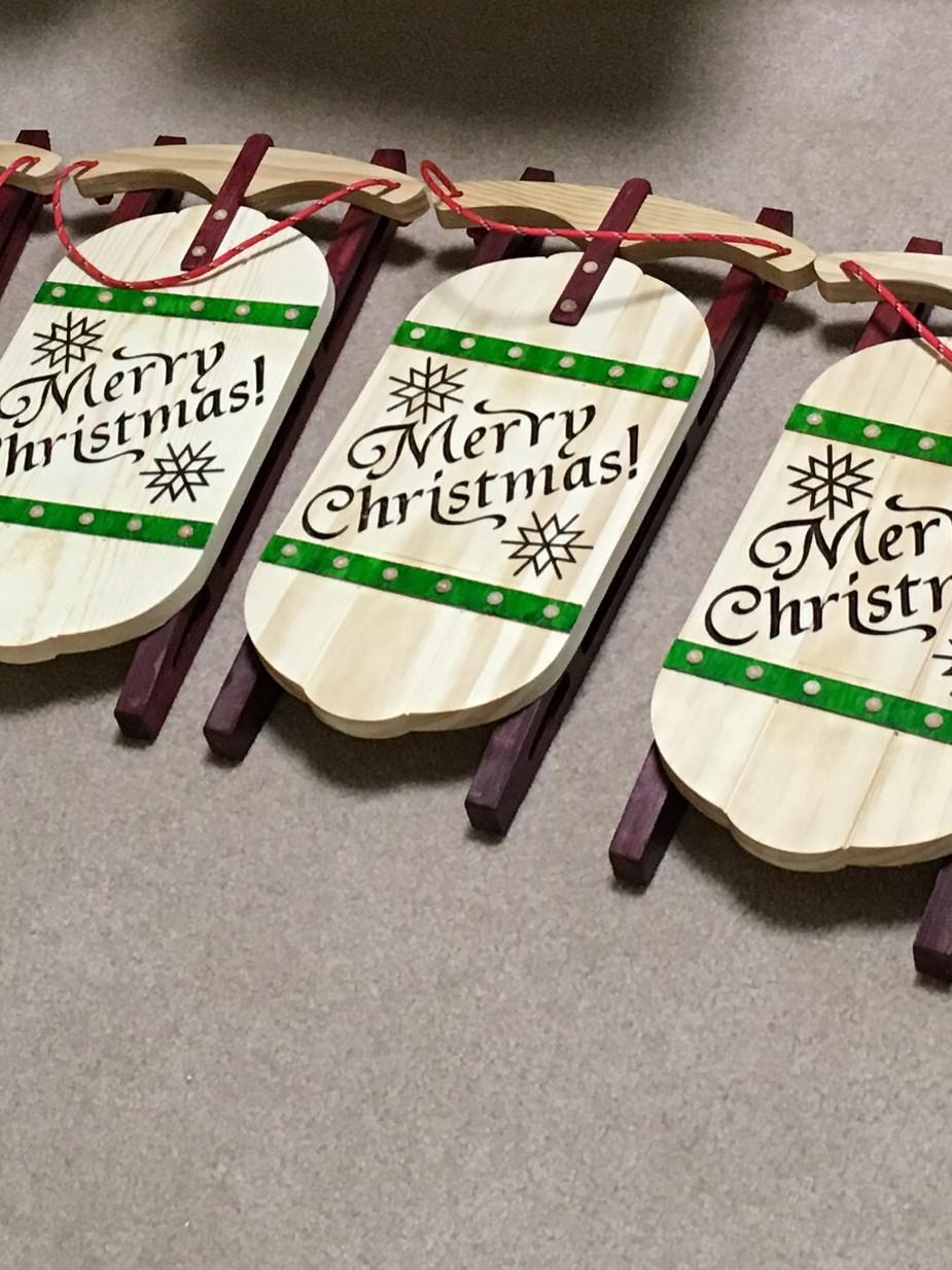 CNC - Christmas Sleds