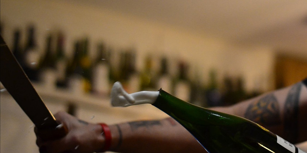 Experience the Art of Cava Sabrage