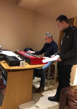 Studio session for an album with singer Julie Grant