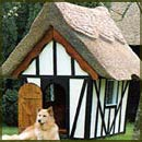 Thatched dog kennel