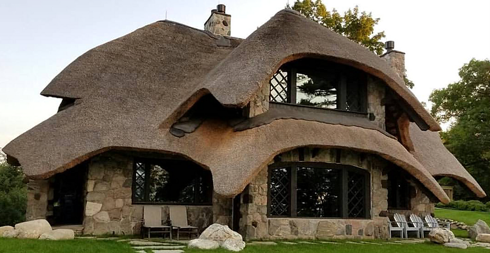 Thatched Mushroom House Charlevoix McGhee & Co Rooftatchers