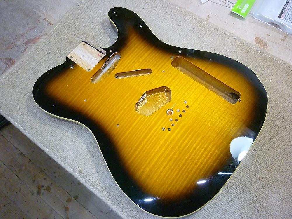 Fender Japan Exclusive Ritchie Kotzen Telecaster Brown Sunburst パーツ取り外し