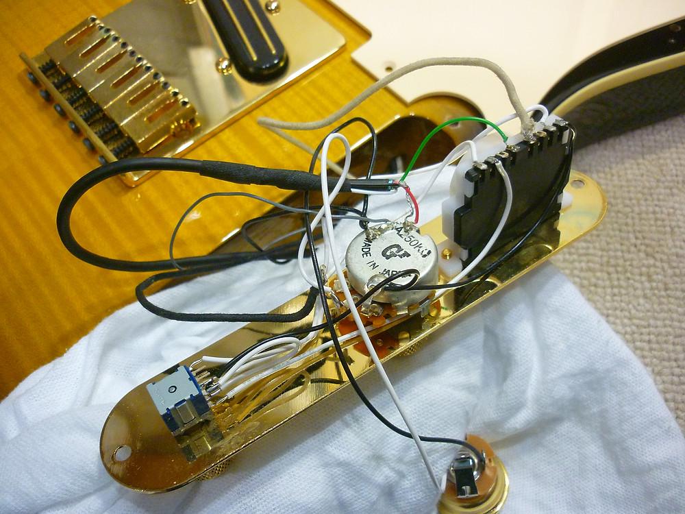 Fender Japan Exclusive Ritchie Kotzen Telecaster Brown Sunburs 配線 施工前