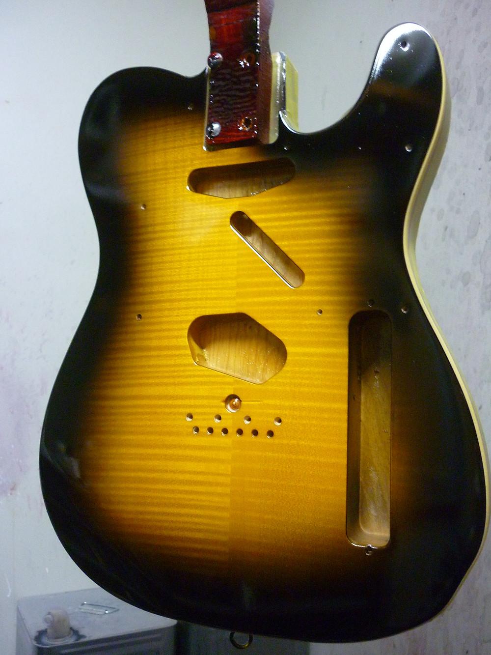 Fender Japan Exclusive Ritchie Kotzen Telecaster Brown Sunburs 塗装 カラー