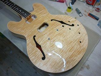 リフィニッシュ Gibson ES-335