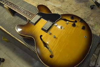 ネック折れ修正 Gibson ES-335 接着