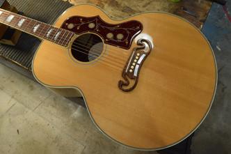 Gibson SJ-200 ナット・サドル交換 フレット擦り合わせ