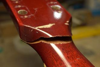 ネック折れ修正 Gibson SG