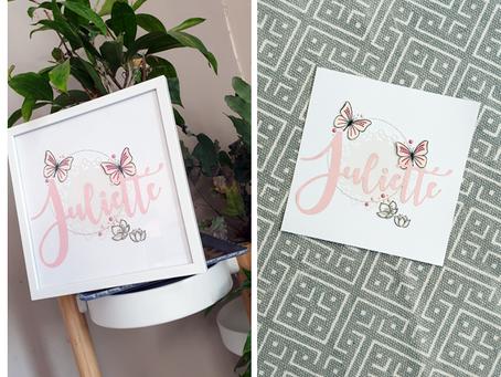 [Création Personnalisée] Petit Cadre « Juliette »