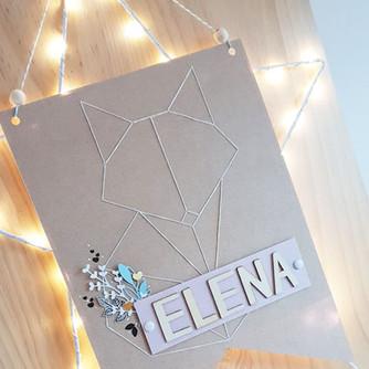 [Création Personnalisée] Fanion « Elena »