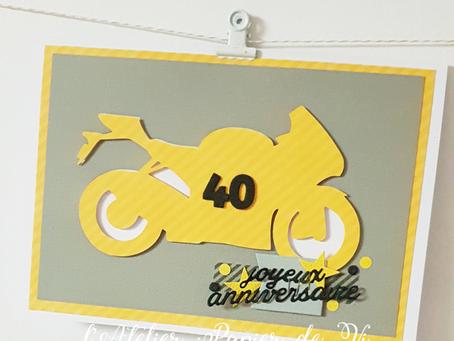 [Création personnalisée] Carte « 40 ans »