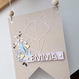 [Création Personnalisée] Fanion « Emma »