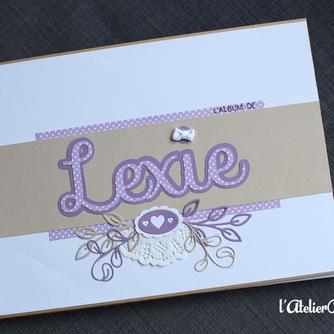 [Création personnalisée] Album de Naissance « Lexie »