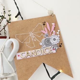 [Création Personnalisée] Fanion «Candice»