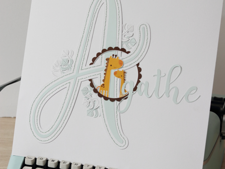 """[Création Personnalisée] Cadre """"Agathe"""""""