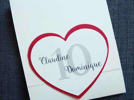 [Création personnalisée] Invitation « Anniversaire de Mariage »
